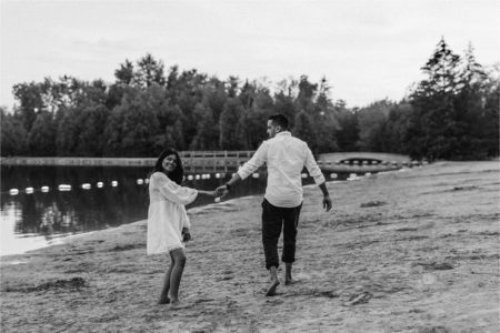 Romantic Lakeside Engagement
