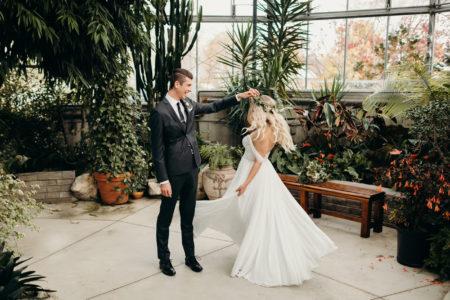 Romantic Greenhouse Wedding | Alex + Dale